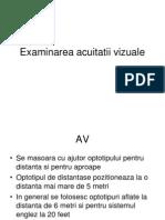 Acuitatea vizuală: verificarea acuității vizuale