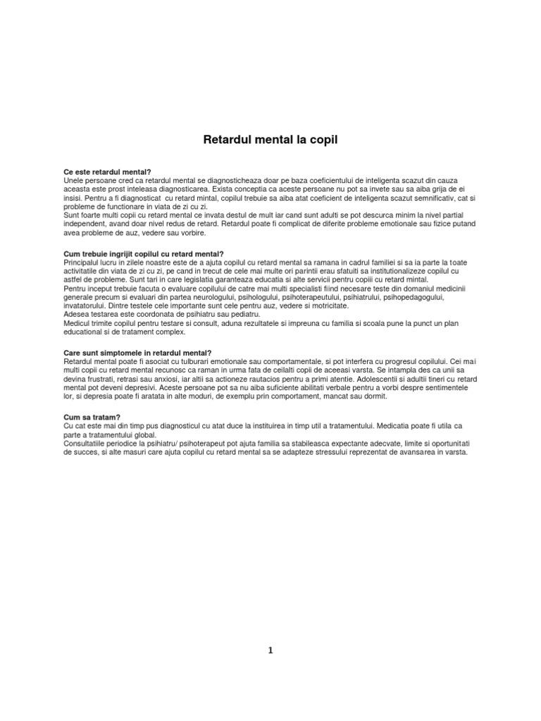 RETARDUL MENTAL IN BOLILE NEUROLOGICE CU DETERMINISM GENETIC. CAZ ILUSTRATIV - SNPCAR