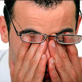 cu oboseală, vederea se deteriorează