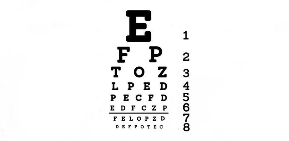 fixarea vederii afectate