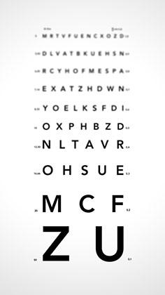 grafic de acuitate vizuală
