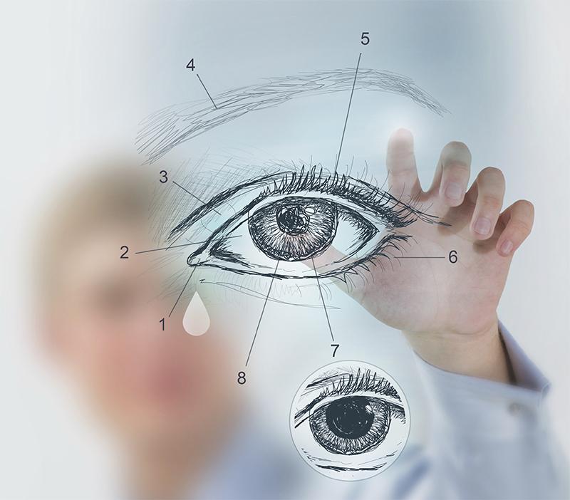 miopie și hipermetropie în ochi diferiți