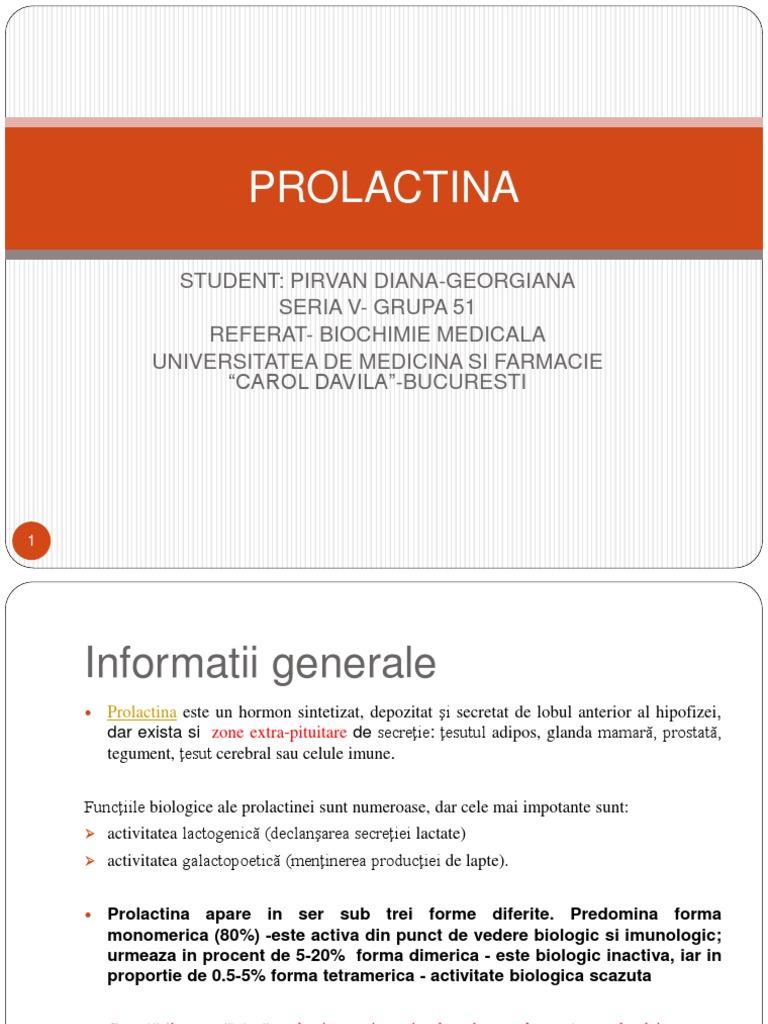 prolactină și vedere crescute