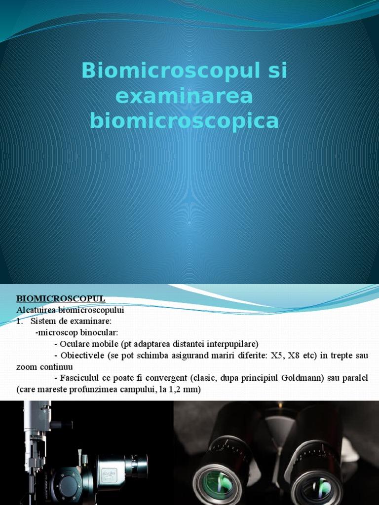 principiile examinării oculare