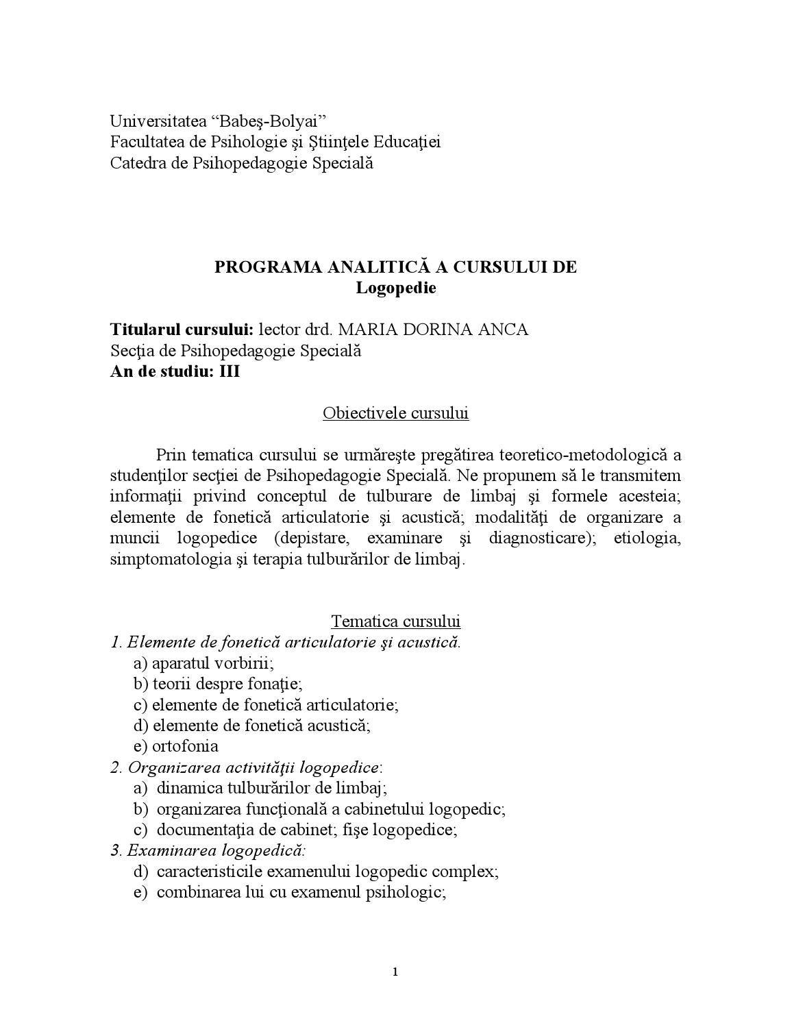 (PDF) Diagnosticarea şi clasificarea tulburărilor de limbaj | Remus Florin - zemcenter.ro